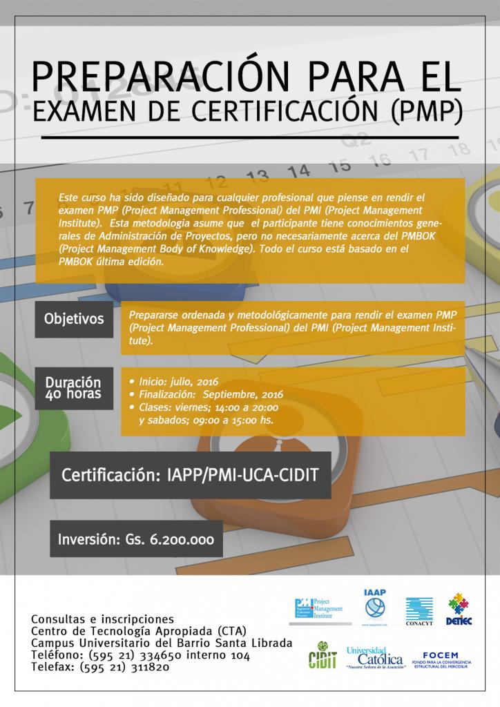 Preparación para el Examen de Certificación (PMP)