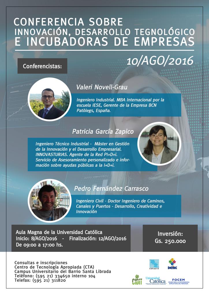 Conferencia sobre Innovacion, Desarrollo Tecnológico e Incubadoras de empresas
