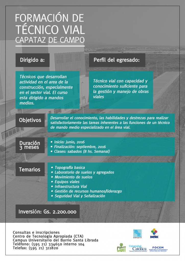 Formacion de Tecnico Vial – Capataz de Campo